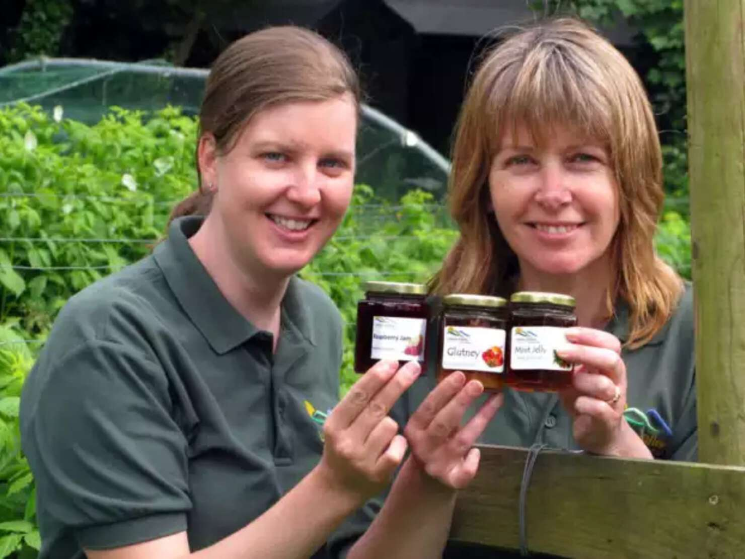 Loxley Valley Community Farm Open Day: Wendy Burroughes (left) and Elaine Trippet with some of the farm's chutney and jam